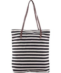 Haily´s Krémovo-černá pruhovaná taška Haily's Laura