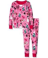 Hatley Mädchen Zweiteiliger Schlafanzug Pj (Aop) -Girls Vintage Holiday