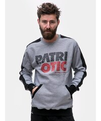 Patriotic CLS Fonts Crewneck Grey Black