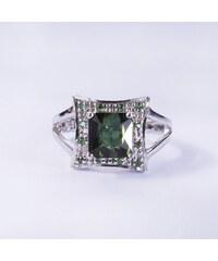 KLENOTA Prsten se zeleným turmalínem