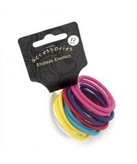 Dámské gumičky do vlasů 28062 barevné - 12 ks
