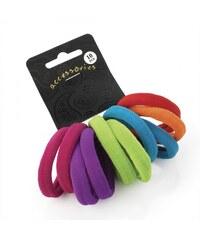 Dámské gumičky do vlasů 26865 barevné - 10 ks