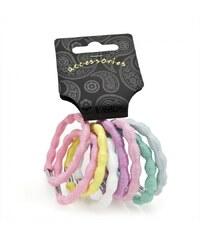 Dámské gumičky do vlasů 28612 barevné - 8 ks