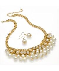 SET: Krémový náhrdelník a náušnice Jessie 29301