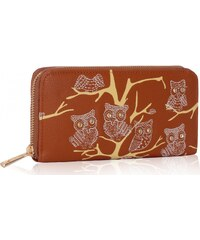 Dámská peněženka Owl 1046 hnědá