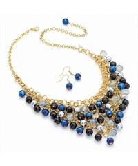 SET: Modrý náhrdelník a náušnice Debbie 29639