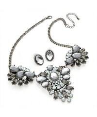 SET: Šedý náhrdelník a náušnice Liliana 29536