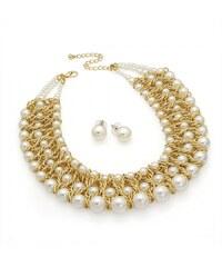 SET: Krémový náhrdelník a náušnice Wera 29762