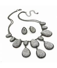 SET: Šedý náhrdelník a náušnice Misha 29770