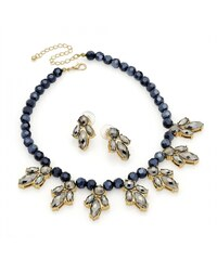 SET: Šedý náhrdelník a náušnice Bobo 29778