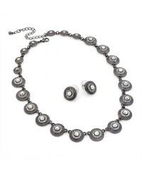 SET: Šedý náhrdelník a náušnice Mae 29825