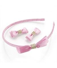 Růžová čelenka a sponky Kitty 29950