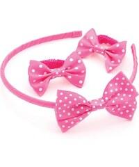 SET: Růžová čelenka a gumičky do vlasů 28867