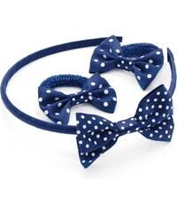 SET: Modrá čelenka a gumičky do vlasů 28866