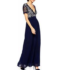 Tmavě modré dlouhé šaty Club L