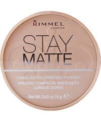 Rimmel London Stay Matte Long Lasting Pressed Powder 14g Make-up W poškozená krabička - Odstín 002 Pink Blossom