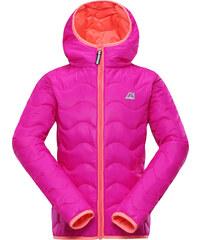ALPINE PRO Dívčí zimní prošívaná bunda Solo - růžová