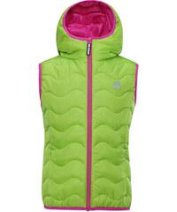 ALPINE PRO Dívčí prošívaná vesta Montano - zelená