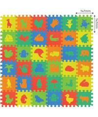 MaDe Pěnové puzzle - Koberec mix obrázků - 36 ks