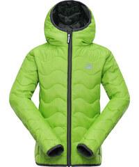 ALPINE PRO Chlapecká zimní prošívaná bunda Solo - zelená