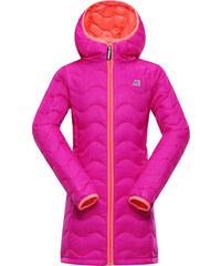 ALPINE PRO Dívčí zimní prošívaný kabát Sierro - růžový
