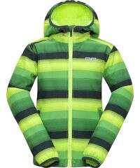 ALPINE PRO Dětská softshellová bunda Roro - žluto-zelená