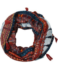 Cecil - Foulard-tube à pompons - antique red