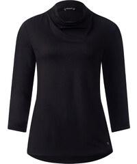 Street One - T-shirt à fronces Iljana - Black