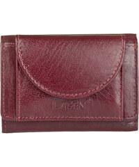 Lagen Unisex kožená červená peněženka Red W-2030