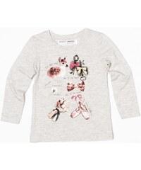 Minoti Dívčí tričko Forest 5 s obrázky - světle béžové
