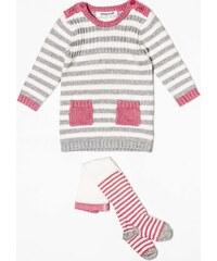 Minoti Dívčí dvojkomplet svetru a punčocháčí - barevný