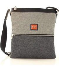 NOBO Černo-šedá crossbody kabelka - N0870a odstíny barev: šedá