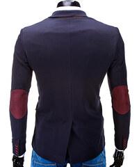 OMBRE Blazer mit Kontrast-Detail & Ellbogen-Patches - Blau - S