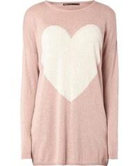 Only Oversize Pullover mit Herz-Motiv