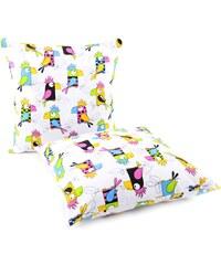My Best Home Dětský polštář Papoušci, 40x40 cm - bílý