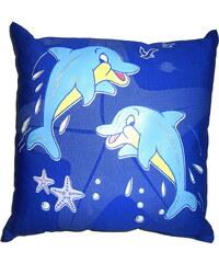 M-Sector Svítící polštářek Delfíni modří 28x28 cm