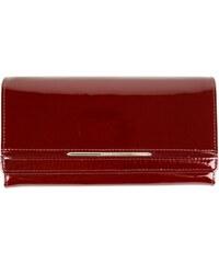 Červená kožená peněženka Azalea