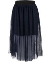 Tmavě modrá šifonová sukně Vero Moda Mesha