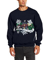 Brands In Limited Herren Sweatshirt Christmas Thor Iron Man Hulk