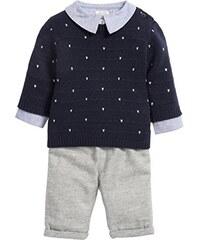 Mamas & Papas Baby-Jungen Bekleidungsset and 3 Piece Jumper, Shirt and Trouser Set