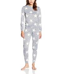 Boohoo Damen Zweiteiliger Schlafanzug Lauren All Over Star Print Set