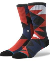 Červeno-modré pánské vzorované ponožky Stance Mondo