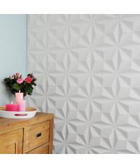 Lesara Lot de 12 panneaux muraux 3D motifs triangulaires
