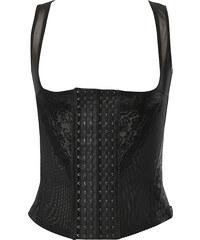 Lesara Shapewear-Top mit Hakenleiste - Schwarz - S