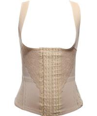 Lesara Shapewear-Top mit Hakenleiste - Nude - S