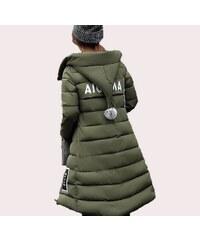 Dámská bunda/kabát zimní khaki