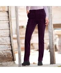Blancheporte Manšestrové kalhoty švestková 38