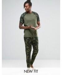 ASOS Loungewear - Pantalon de jogging skinny à motif camouflage - Vert