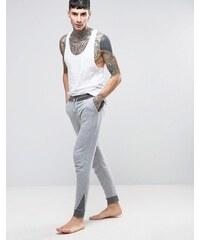 ASOS Loungewear - Pantalon de survêtement à empiècements contrastés - Gris