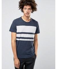 Selected Homme Plus - T-shirt ras de cou à rayures color block - Bleu marine